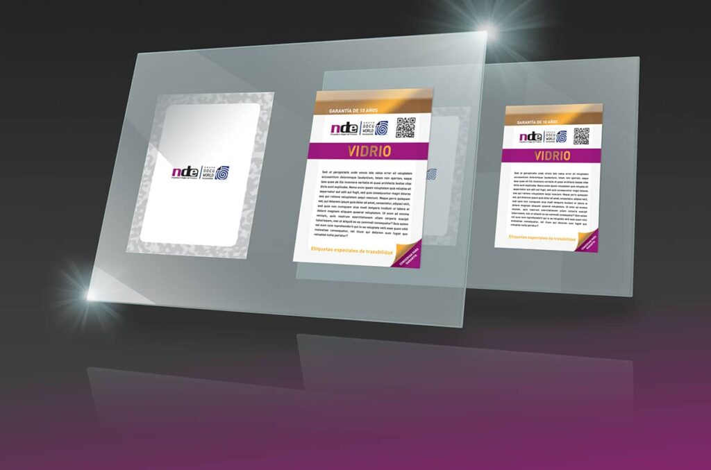 Ejemplo de Etiqueta para cristales y muebles de Navarra de Etiquetajes